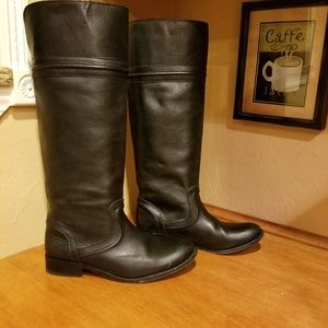 Frye pull up slouch boots size 7.5
